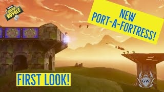 PORT-A-FORTRESS FIRST LOOK! FORTNITE BATTLE ROYALE! Port A Fortress Gameplay Trailer!