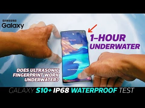 Samsung Galaxy S10 Plus WATERPROOF Test- 💦1 Hour UNDERWATER IP-68 Test|Fingerprint Test Underwater?