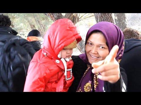 Refugees Arriving  Wet & Cold - Lesbos Greece