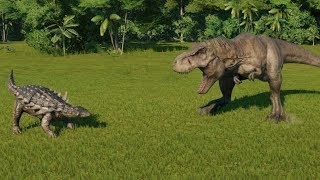 Polacanthus(Fully Modified) VS I-Rex, Indoraptor, T-rex, Suchomimus and Baryonyx - JWE