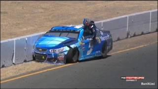Monster Energy NASCAR Cup Series Sonoma 2017 Finish Kahne Crashes