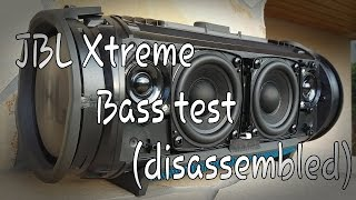 JBL Xtreme - Bass test (disassembled)