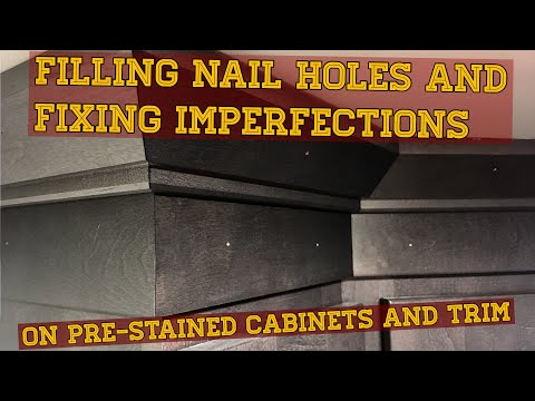 Filling Nail Holes And Fixing Imperfections On Pre Stained Cabinets And Trim