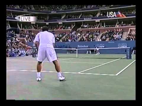 """Sampras vs Krajicek in Us Open 2000: """"serve and volley"""" battle!!!!!"""