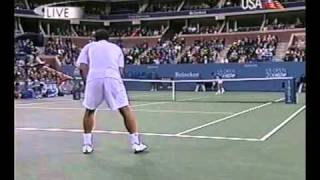 "Sampras vs Krajicek in Us Open 2000: ""serve and volley"" battle!!!!!"