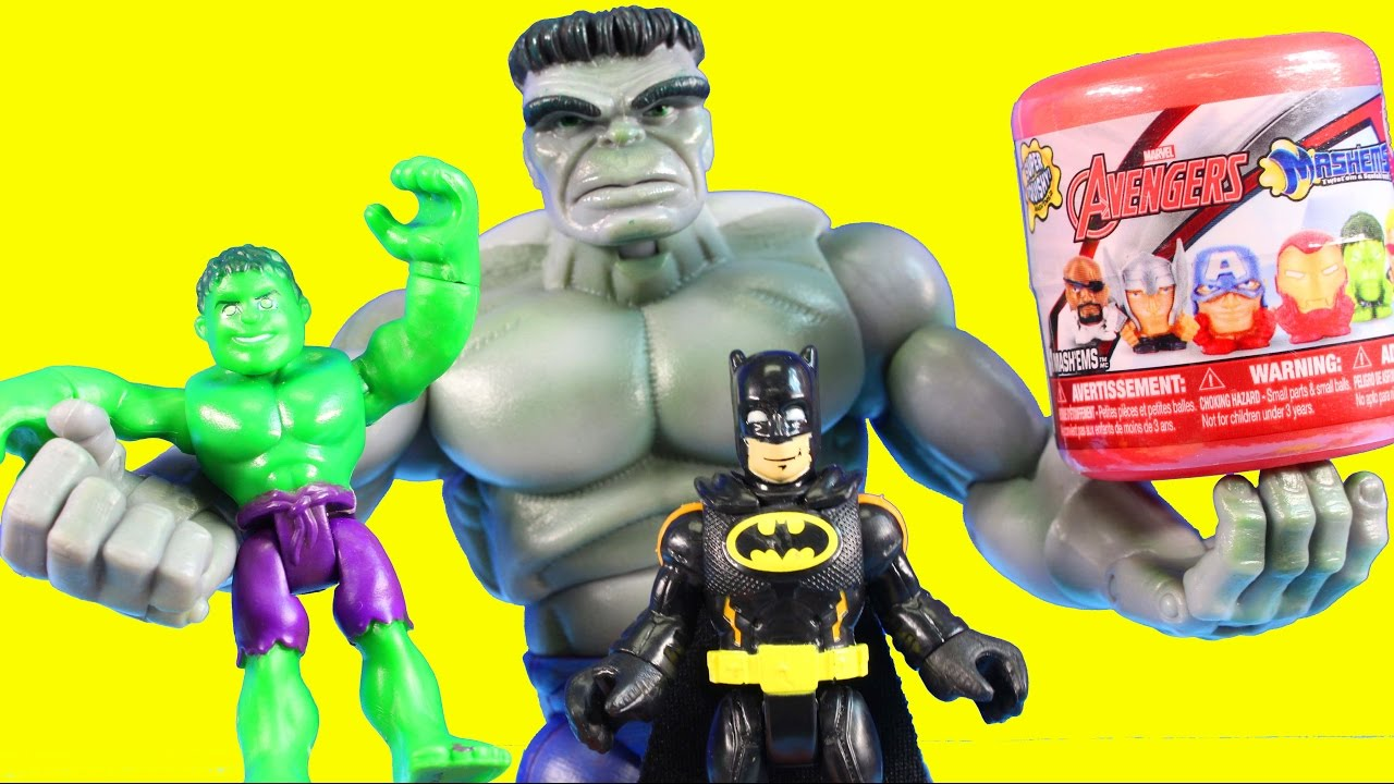 Imaginext Batman And Hulk Family Open Up Smurfs And TMNT ...
