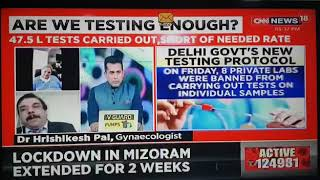 Dr Hrishikesh Pai Live on CNN News 18 channel talking about COVID-19 - 8th June 2020