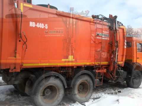 Мусоровоз КО-440-5   (2012 г.)   шасси КАМАЗ-65115 (6х4)  Евро-3