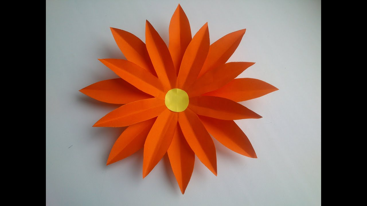 Simple red flower craft gardening flower and vegetables paper flower how to make a simple paper flower youtube mightylinksfo