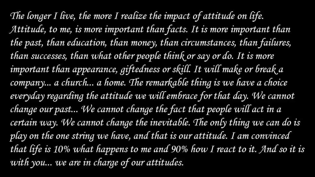 Attitude charles swindoll essay