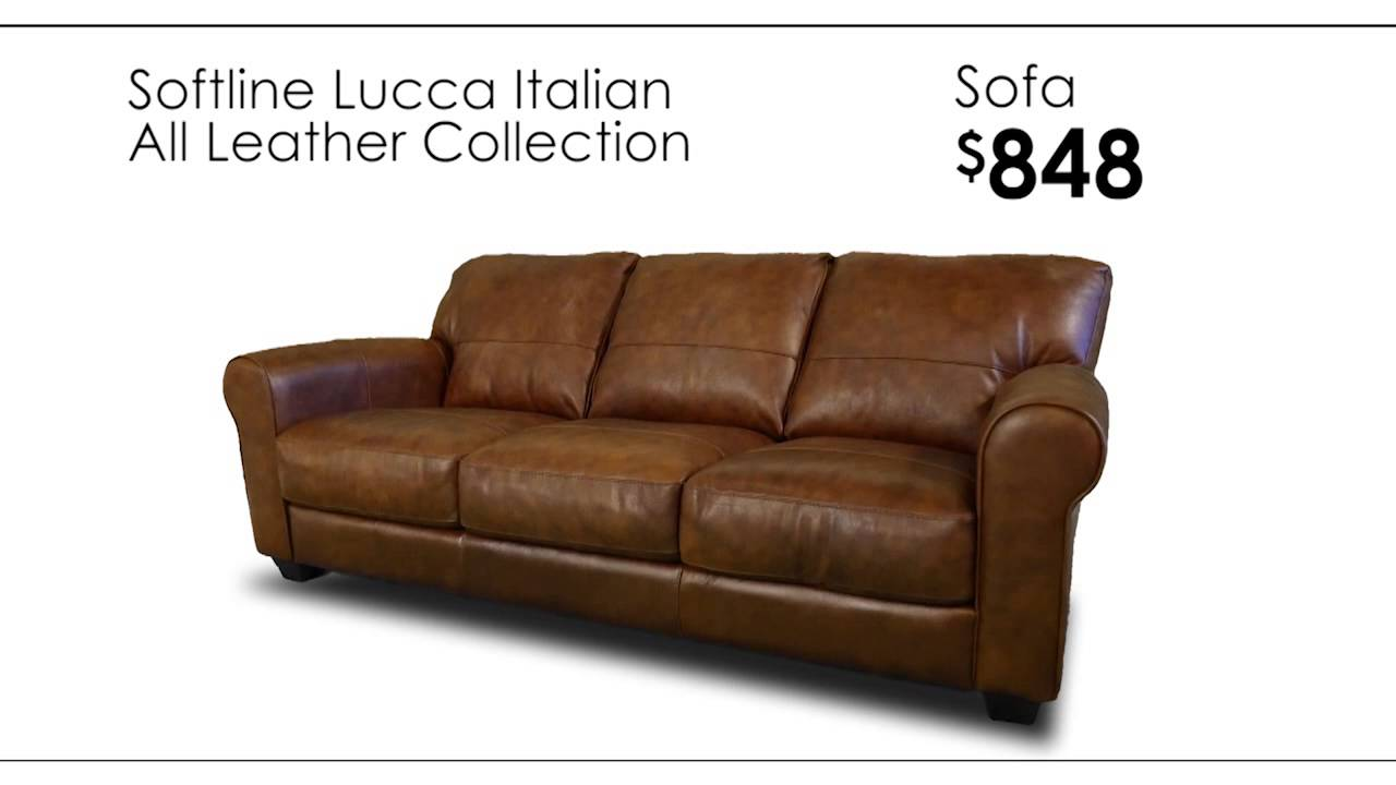Soft line leather sofa mjob blog for All american furniture warehouse