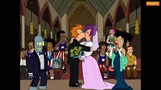 futurama fry and leela s wedding