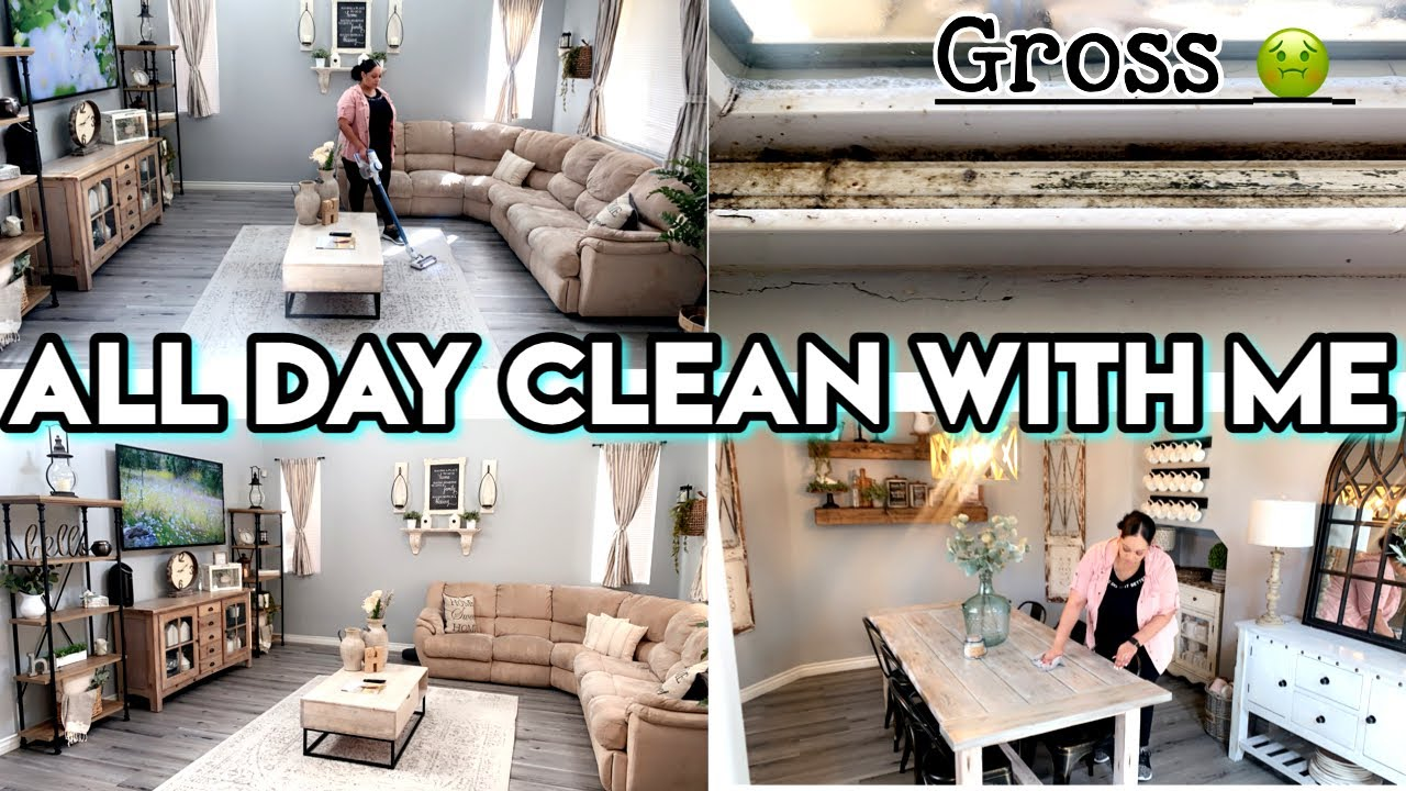 NEW! DEEP CLEAN WITH ME | PRE SPRING CLEANING | EXTREME CLEANING MOTIVATION | ALL DAY CLEAN WITH ME