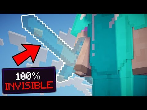 100% INVISIBLE SWORDS IN MINECRAFT!!