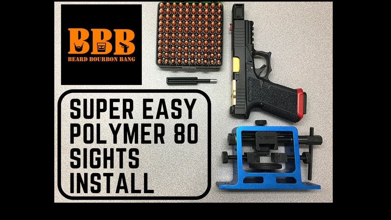 Super Easy Polymer 80 Glock 19 Build Sight Install, Brownells Slide, NcSTAR  Sight Tool Review