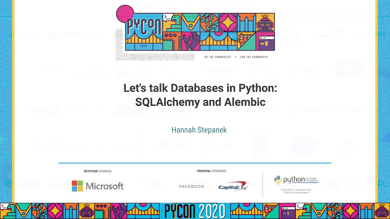 Image from Let's talk Databases in Python: SQLAlchemy and Alembic