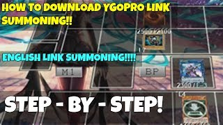 Old version check my channel for new update) YGOPRO Link Summoning