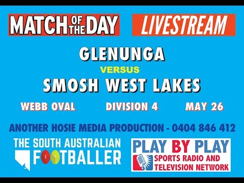 Glenunga Rams Football Club Vs SMOSH West Lakes SAAFL Div 4 Round 8