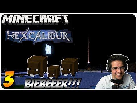 Minecraft HEXCALIBUR #3 - Sooo viele STERNSCHNUPPEN!!! + BIBEEEEER =D | GoP