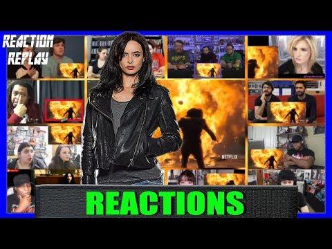 Marvel's Jessica Jones Season 2 Official Trailer Reactions Mashup   Reaction Replay