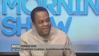SDP presidential candidate, Donald Duke, speaks on his judicial reinstatement