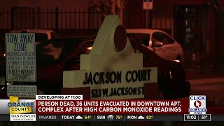 One person dead, 36 units evacuated in Downtown Orlando apartment complex