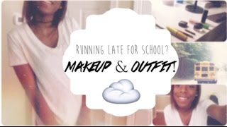 Back-to-School Series: Running Late to School Makeup&Outfit! Thumbnail