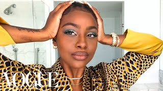 Justine Skye's Guide to Green Eyeshadow & Her True Beauty Secret | Beauty Secrets | Vogue