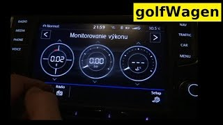 vW Golf 7 Sport HMI monitoring performance