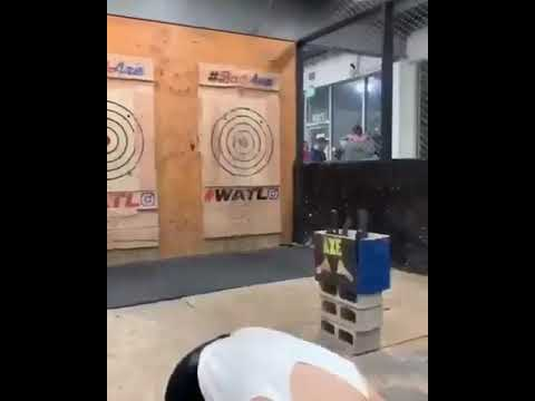 Josh Nagy - Watch: Axe Almost Hits Her