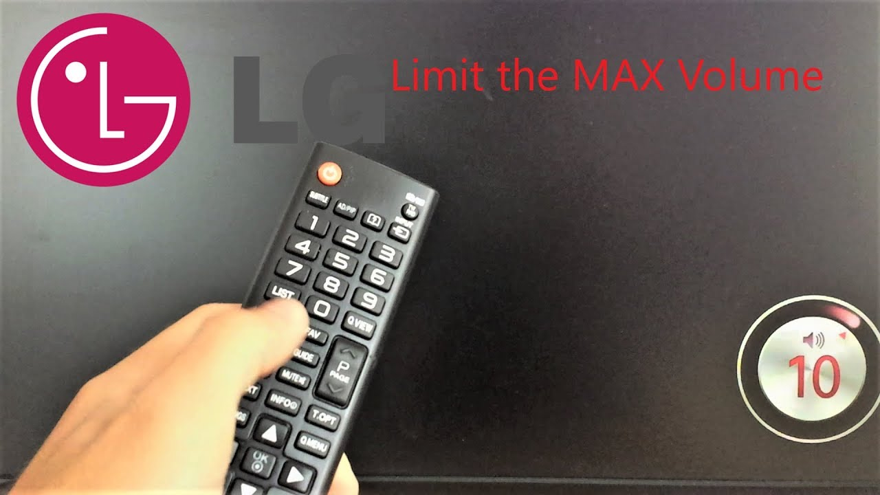 LG TV Lock the MAX Volume Settings / with Hotel Mode Code