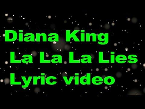 diana king la la la lies lyric video