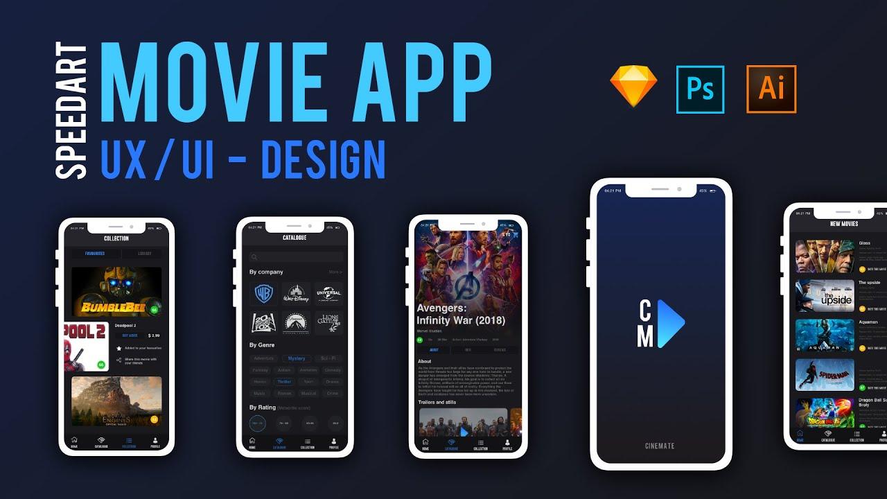 UX/UI movie app design    Speedart