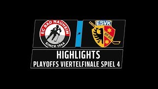 DEL2 Highlights Playoffs Viertelfinale Spiel 4 | EC Bad Nauheim vs. ESV Kaufbeuren