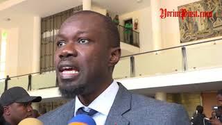 Suspension de sance Raction dOusmane Sonko