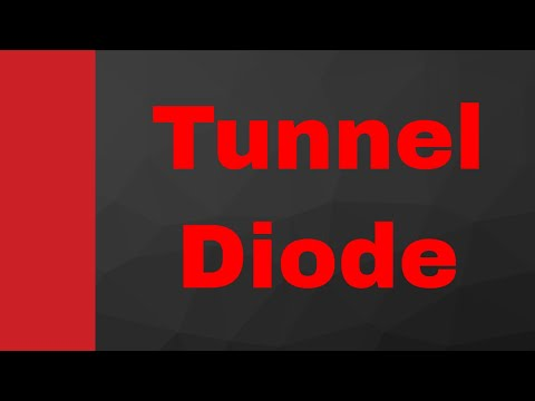 Tunnel Diode or Esaki Diode (Working, Internal Structure & Characteristics)  by Engineering Funda