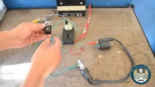 Probador de chispa de bujia utilizando CDI de 6 puntas -  Motocicletas thumbnail