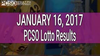 PCSO Lotto Results January 16, 2017 (6/55, 6/45, 4D, Swertres & EZ2)
