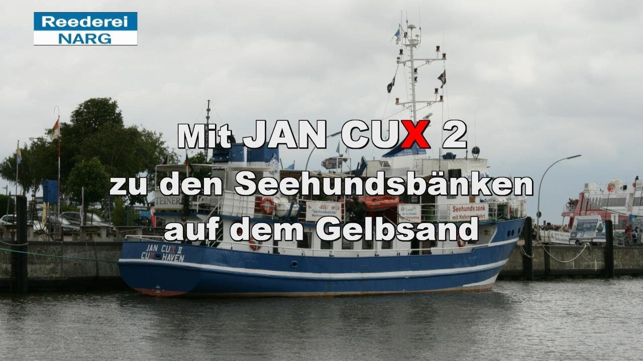 Mit JAN CUX 2 zu den Seehundsbaenken - YouTube