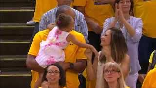 Riley Curry Reacts to Father Stephen's Clutch Free Throws