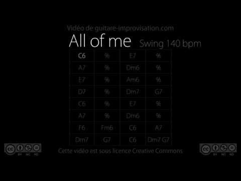 All of Me : Backing Track (140 bpm)