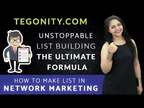 How to Make List in Network Marketing | How to Find Prospects For Network Marketing