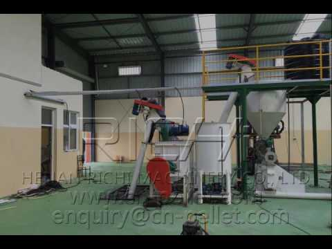 1-2T/H Animal Feed Pellet Production Line Test Video in Cape Verde