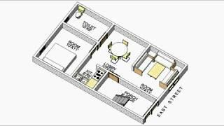 वास्तु पूर्व मुखी मकान का नक्शा 17