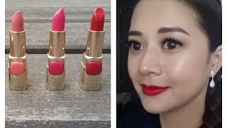 New Loreal Color riche lipsticks first impression / swatches