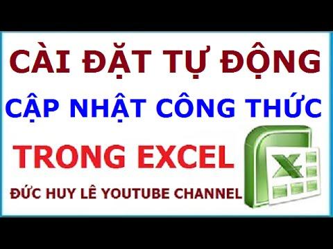 Sửa lỗi file Excel không tự nhảy công thức, kết quả