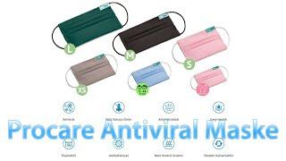 Procare Antiviral Antibakteriyel Yıkanabilir Maske Tanıtımı