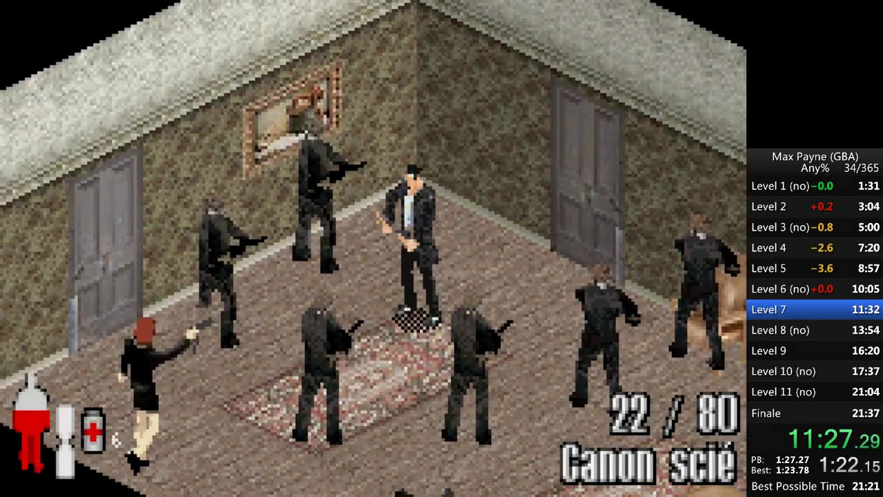 Any In 21m 28s By Tocaloni1 Max Payne Gba Speedrun Com