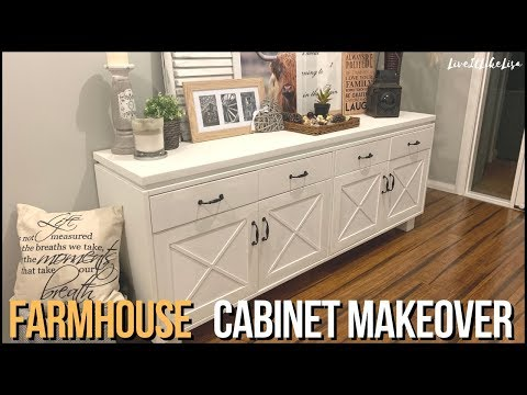 FURNITURE MAKEOVER | Farmhouse Entry Cabinet