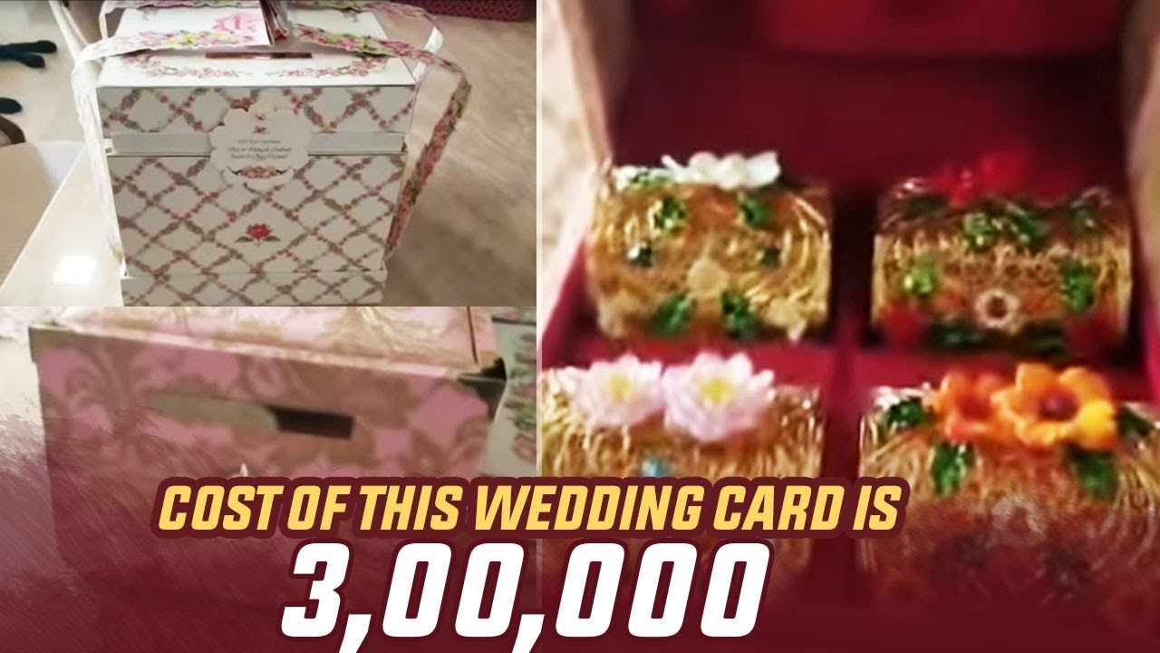 Ambani Daughters Wedding Card Price 300000 Isha Ambani Manastars